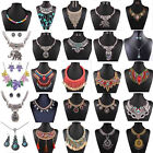 Pendant Chain Crystal Choker Chunky bib Statement Necklace women Fashion Collar