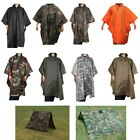 Waterproof Military G.I. Ripstop Rain Poncho Emergency Tent Shelter Camouflage