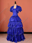 Civil War Victorian Gone With The Wind Gown Dress Theater Halloween Costume 193