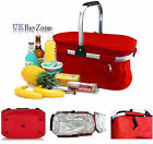 30L Insulated Folding Picnic Camping Shopping Cooler Cool Hamper Basket Bag Box