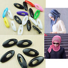 6 pcs Plastic Hijab Muslim Islamic Scarf Pin Safety Pin Clips Set