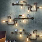 Industrial Steampunk Wall Lamp Retro Light Rustic Vintage Loft Pipe E27 Lighting