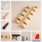 New4 5Hooks Bamboo Coat Hanger Collapsible Flip Wall Mounted Cloth Stand  Rack