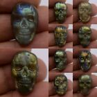 22-23mm  Carved labradorite skull cab cabochon *each one picture*