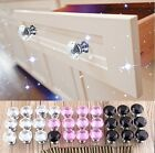 10pcs Transparent Clear Diamond Crystal Glass Pull Handle Cabinet Drawer Knobs