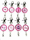 Breast Cancer Awareness Pink Ribbon Bottle Cap Charm Backpack Purse Zipper Pull