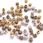 50Pcs Tibetan Silver & Gold & Bronze , Charms Spacer Beads 6X5MM
