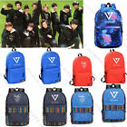 Kpop Seventeen Unisex Backpack Student School Bag Shoulder Bookbag WONWOO VERNON