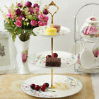 2/3 Tier Cake Plate Stand Cupcake Fitting Silver Golden Wedding Party Cocktail b