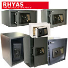 RHYAS Security & Fire Proof Safes Electronic Key Home Office Heavy Duty Steel