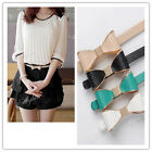Women Candy Color Golden Edge Bowk One Size Faux Leather Skinny Waistband Belt