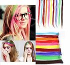 1PC Women Multi Color Long Straight Synthetic Clip in on Hair Extensions From US