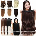HAIR EXTENSIONS CLIPS A FULL HEAD QUALITY SYNTHETIC HAIR CURLY STRAIGHT 6 COLORS