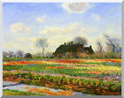 Stretched Art Print Tulip Fields at Sassenheim near Leyden by Claude Monet Repro