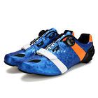 2016 Men's Cycling Carbon Fiber Soles Shoes Breathable Road Bicycle Bike Shoes