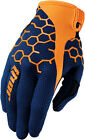 Thor 2017 S7 Draft Gloves (Pair) Navy/Orange Mens All Sizes