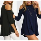 Sleeveless Women Fashion Loose O Neck Shoulder off Tank Top Sexy Blouse Shirt A