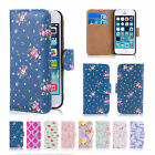 32nd Floral Design Book PU Leather Wallet Case Cover for Apple iPhone Models