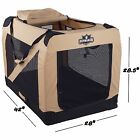 Extra Large Portable Soft Sided Pet Crate Carrier Screens...