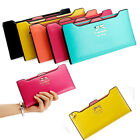 New Lady Women Long Card Holder Leather Clutch Wallet Case Purse Fashion Handbag