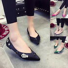 Yoocart Rhinestone Ballet Pointed Toe Flats Slip On Women Shoes Casual Footwear