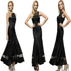 Sexy Women Lady Black Sleeveless Organza Cocktail Party Decor Fishtail Dress