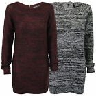 Ladies Jumpers Brave Soul Womens Cable Knitted Sweater Top Crew Neck Long Zip