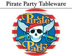 Pirate Party Tableware - Plates, Cups, Napkins & Tablecover