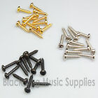Guitar machine head string tree screws chrome black or gold 6, 12, 50 or 100