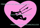 VRS HEART Love Kitesurfing Kite Board Surf Lean Surfing CAR DECAL VINYL STICKER