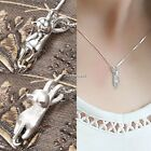Women Fashion New Silver lovely Cat Pendant Necklace Chain Charming Jewelry