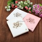 50pcs Heart Shape Hollow Out Wedding Party Decor Table Name Place Cards N4U8