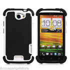 32nd Dual Layer Shockproof Case For HTC One X + Screen Protector & Stylus