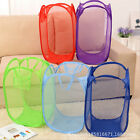 Pop Up Foldable Washing Dirty Clothes Hamper Mesh Laundry Basket Storage Bag