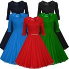 Women's Swing Dress A-Line High Waist Evening Ball Gown Slim Bodycon Party Skirt