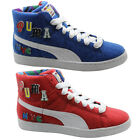 Puma Basket x Dee & Ricky Whimsical World Unisex Mid Trainers Blue Red 360085