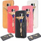 Luxury Ultra Slim Leather Wallet Card Back Case Cover For Samsung Galaxy S6 S7