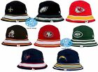 New NFL Team New Era  Stripe Mens Bucket Cap Hat $24.95 USD on eBay