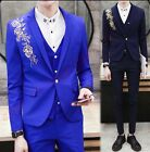 L Fashion Mens Dress Formal 3 Pieces Ethnic Wedding Blazer Suit Party Casual New
