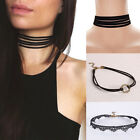 Women's Black Lace /Velvet Choker Collar Necklace GOTHIC PUNK Jewelry 3 Styles