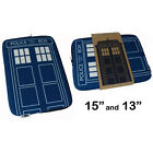 Dr Who Doctor Who Tardis Zip Up Laptop Bag Case New + Official BBC - 2 Sizes