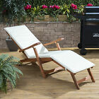 Alfresia Wooden Steamer Deck Chair with Choice of Vibrant 100% Cotton Cushion
