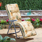 Alfresia Grey Outdoor Garden Relaxer Chair with Classic Cushion - Choice of Colo