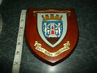 GOOD Wooden Plaque Shield DUNFERMLINE DISTRICT COUNCIL Esto Rupes Inaccessa