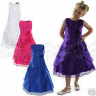 Flower Girl Dress Longer Length Party Dress Formal Occasion Bridesmaid 4-15 Y