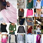 Fashion Womens Long Sleeve Shirt Casual Lace Blouse Loose Cotton Tops T Shirt CH