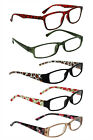Reading Glasses Ladies Trendy Designer 6 Different Strengths Various Colours