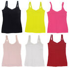 Ladies Lace trimmed Vest tops Sizes 6 up to 22 Great Choice of Colours