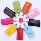 New Unisex Keychain Case Faux Leather Key Ring Pouch Portable Key Organizer