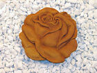 "ROSE TILE Flower Step Stone Concrete Outdoor 11.5""L CEMENT Garden Decor 5 Stains"